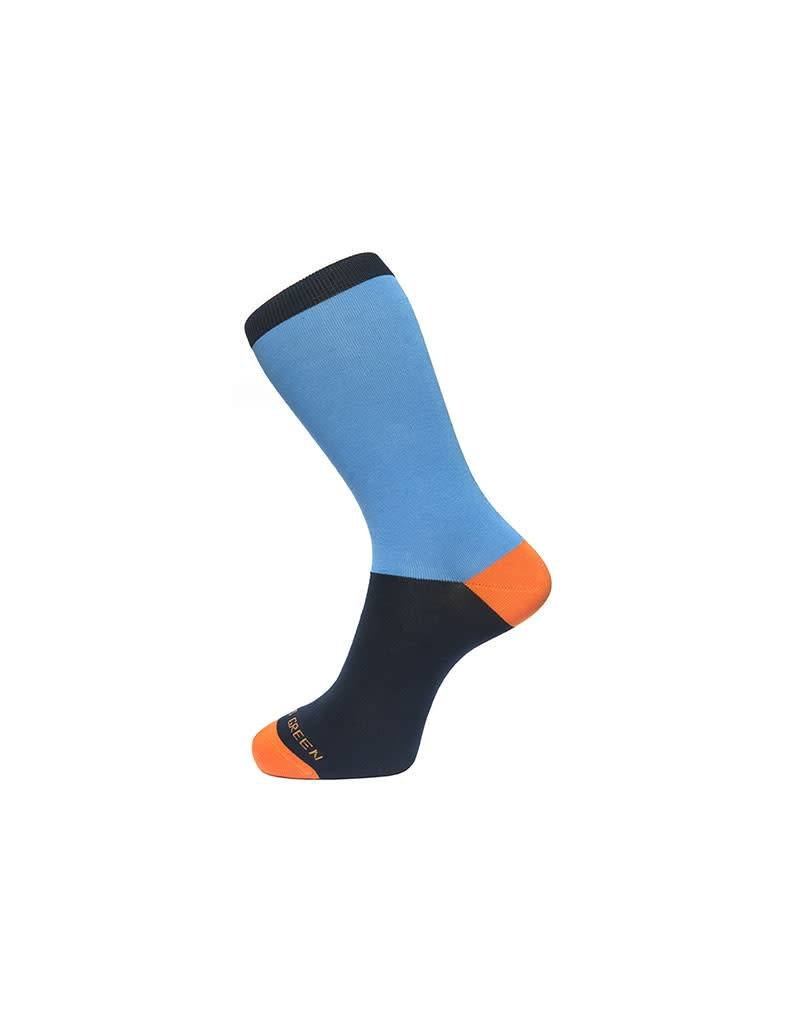 Fortis Green Block Colour Sock In Sky Blue