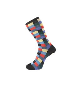 Check Pattern Sock in Black
