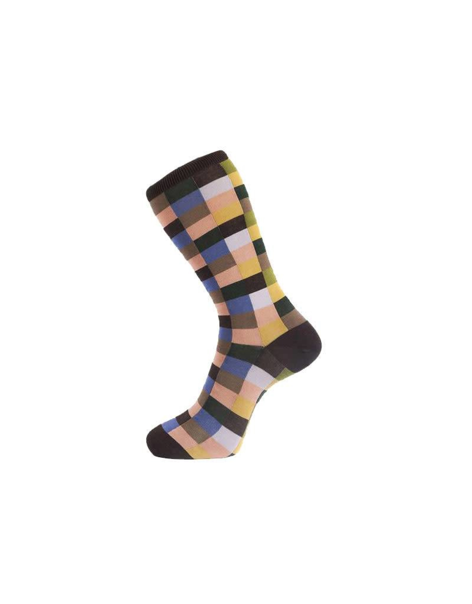 Check Pattern Sock in Brown
