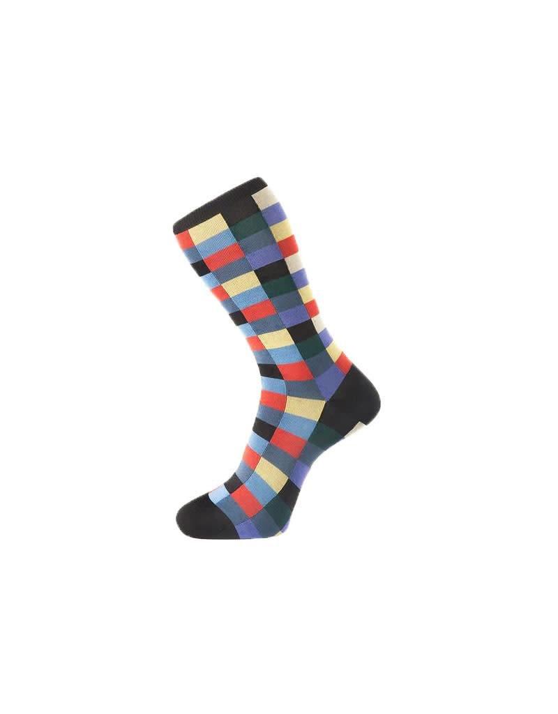 Check Pattern Sock In Navy