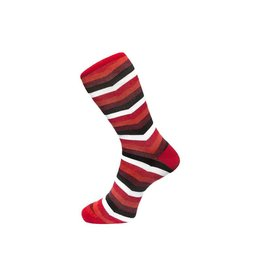 Fortis Green Chevron Stripe Pattern Sock In Red
