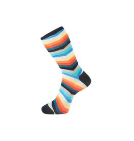 Fortis Green Chevron Stripe Pattern Sock In Multi Colour