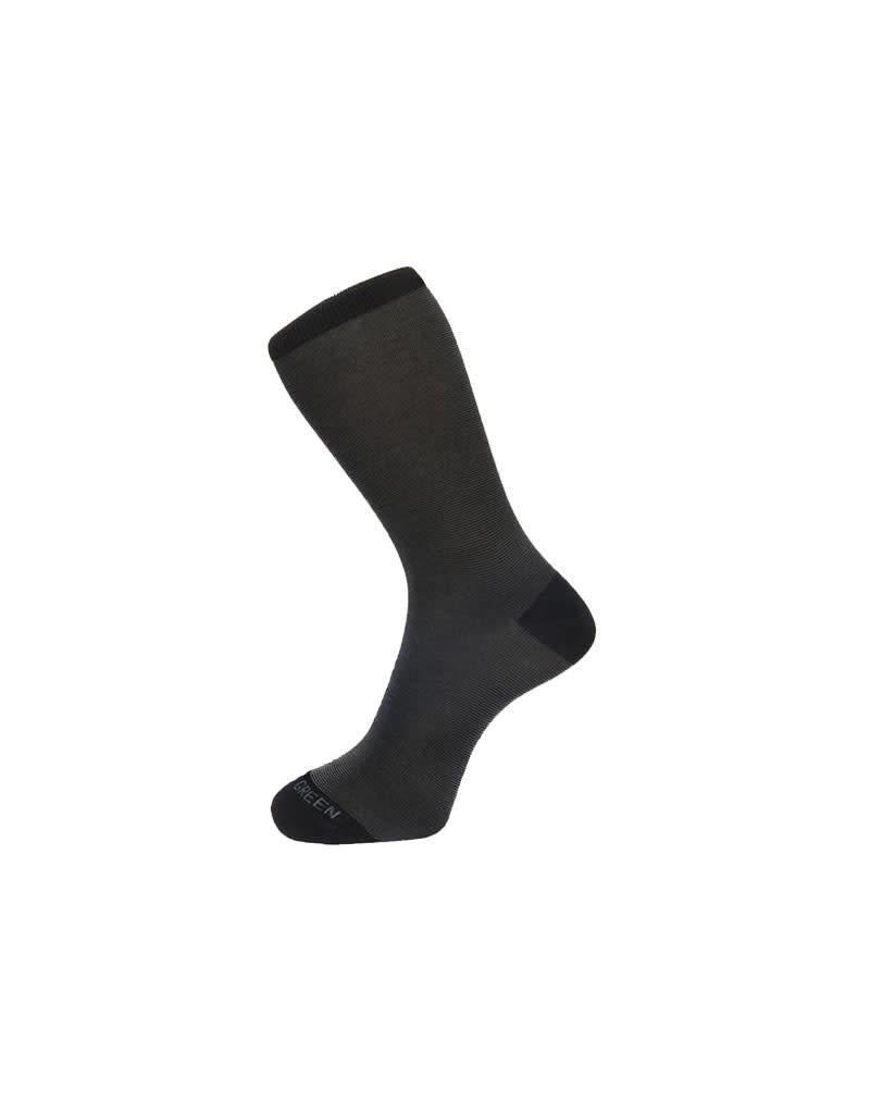 Fortis Green Fine Stripe Pattern Sock In Black