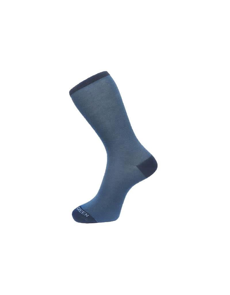 Fortis Green Fine Stripe Pattern Sock In Navy Blue