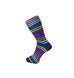 Visconti Multistripe Socks - Navy