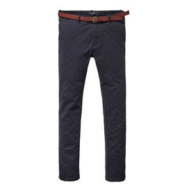 Scotch & Soda Stuart Chino | Garment Dyed Spotted | Blue 139506-0219