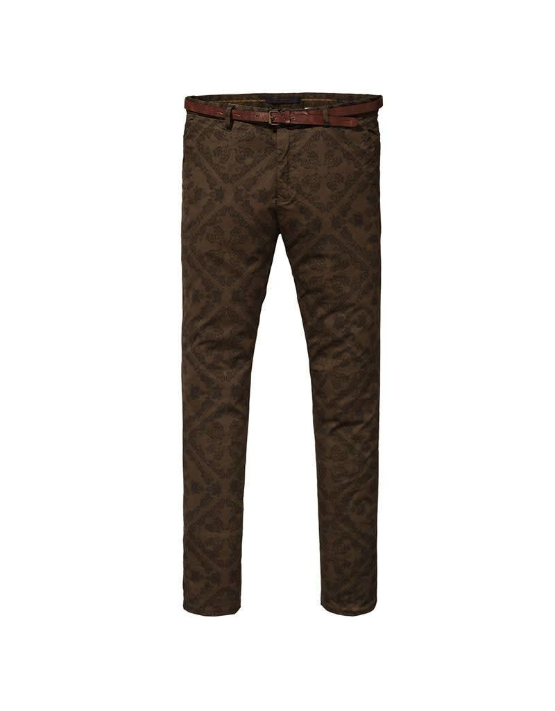 Scotch & Soda Printed Mott Chino | Olive 139514-0218