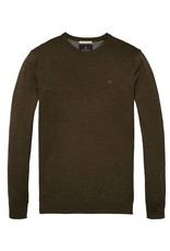 Scotch & Soda Cotton Crewneck Pull Over | Military Melange 139782-0813