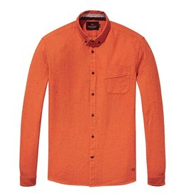 Scotch & Soda Longsleeve Shirt With Allover Embroidery | Porter Orange  139607-1728