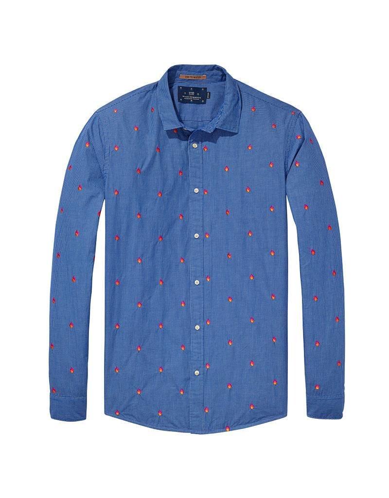 b2ed2b611e03c0 Scotch   Soda Longsleeve Shirt With Allover Embroidery