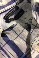 Scotch & Soda Button Through Check Shirt  | White With Blue 101398-0017