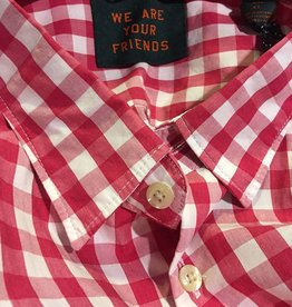 Scotch & Soda Checked Button Through Shirt  |Red With White 101468-0017