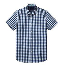 Scotch & Soda Short Sleeved Button Through Shirt  | Blue White 130740-D