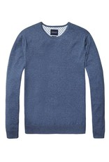 Scotch & Soda Classic Crewneck Pull Over In Cotton Cashmere | Blue 138732-1342