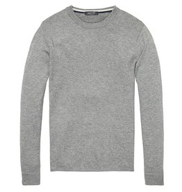 Scotch & Soda Pullover In Lambswool With Side Slits | Grey Melange 139794-0607
