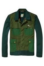 Scotch & Soda Workwear Canvas Race Jacket    Racing Green