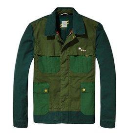Scotch & Soda AMS Blauw | Gaucho Customised Workwear Canvas Race Jacket  | 137538-17