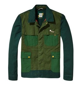 Scotch & Soda Workwear Canvas Race Jacket  | Racing Green