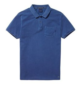 Scotch & Soda Garment Dyed Polo With XXX Pocket | Blue 137773-1148
