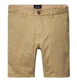 Scotch & Soda Printed Chino Shorts | Tobacco 136232-0217