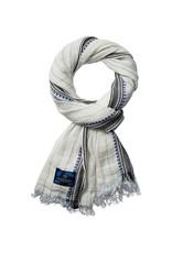 Scotch & Soda Cotton Scarf | White / Blue 136608-0219