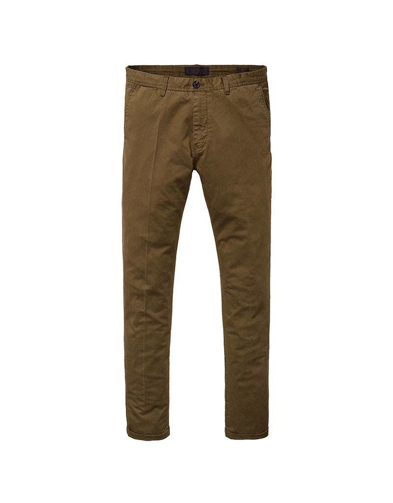 Scotch & Soda Mott Chino |  Garment Dyed Chino In Satiné Weave Quality | 139530