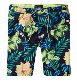 Scotch & Soda Printed Classic Swimshorts |Habiscus 136688-0461