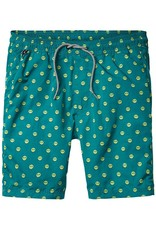 Scotch & Soda Printed Classic Swimshorts | Green Smiley 136696-0217