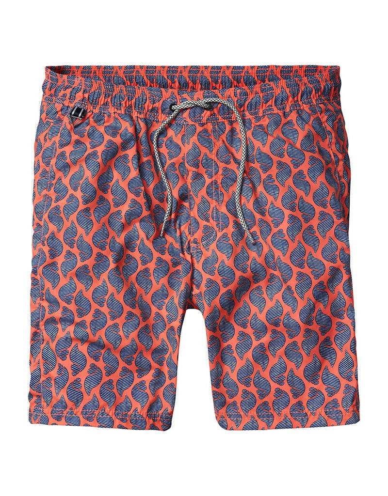 Scotch & Soda Printed Classic Swimshorts | Orange Shells 136696-0218