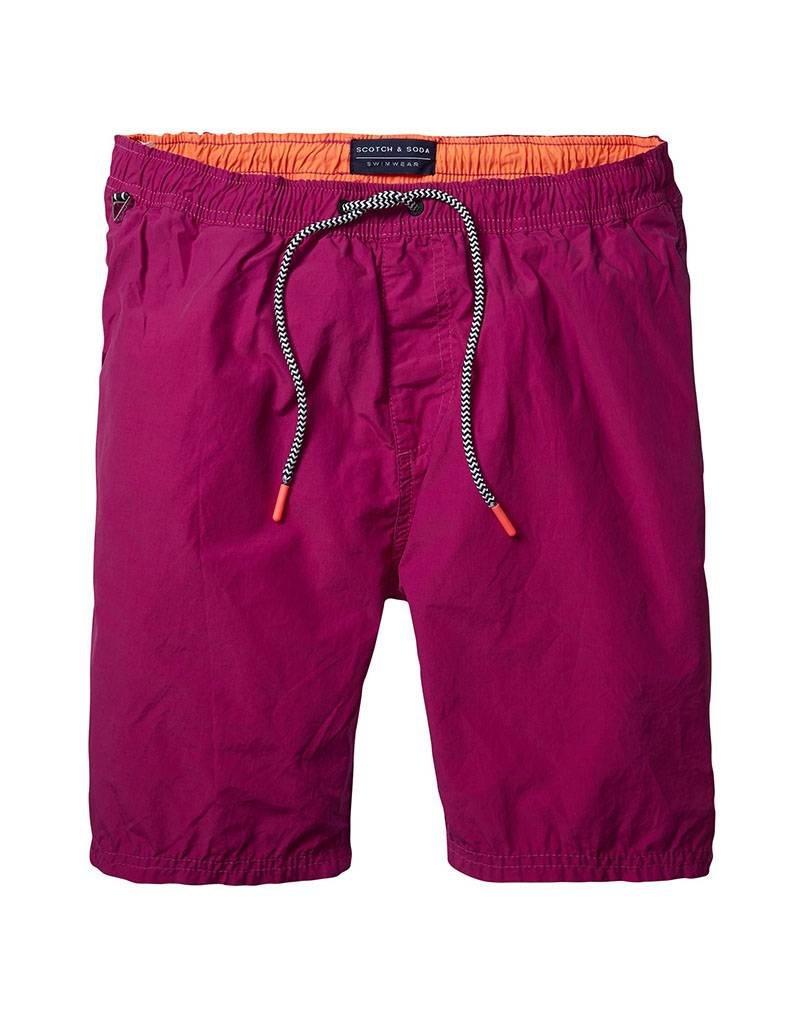 Scotch & Soda Classic Two-tone Swimshort | Magenta / Orange 136687-1146