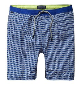 Scotch & Soda Classic Printed Swimshort | White On Blue 136687-0218