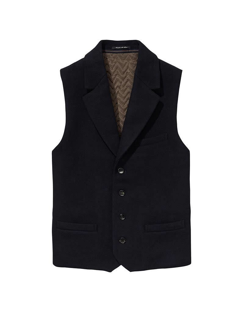 Scotch & Soda Gillet With Lapel in Wool Quality | Grey 139489-0002