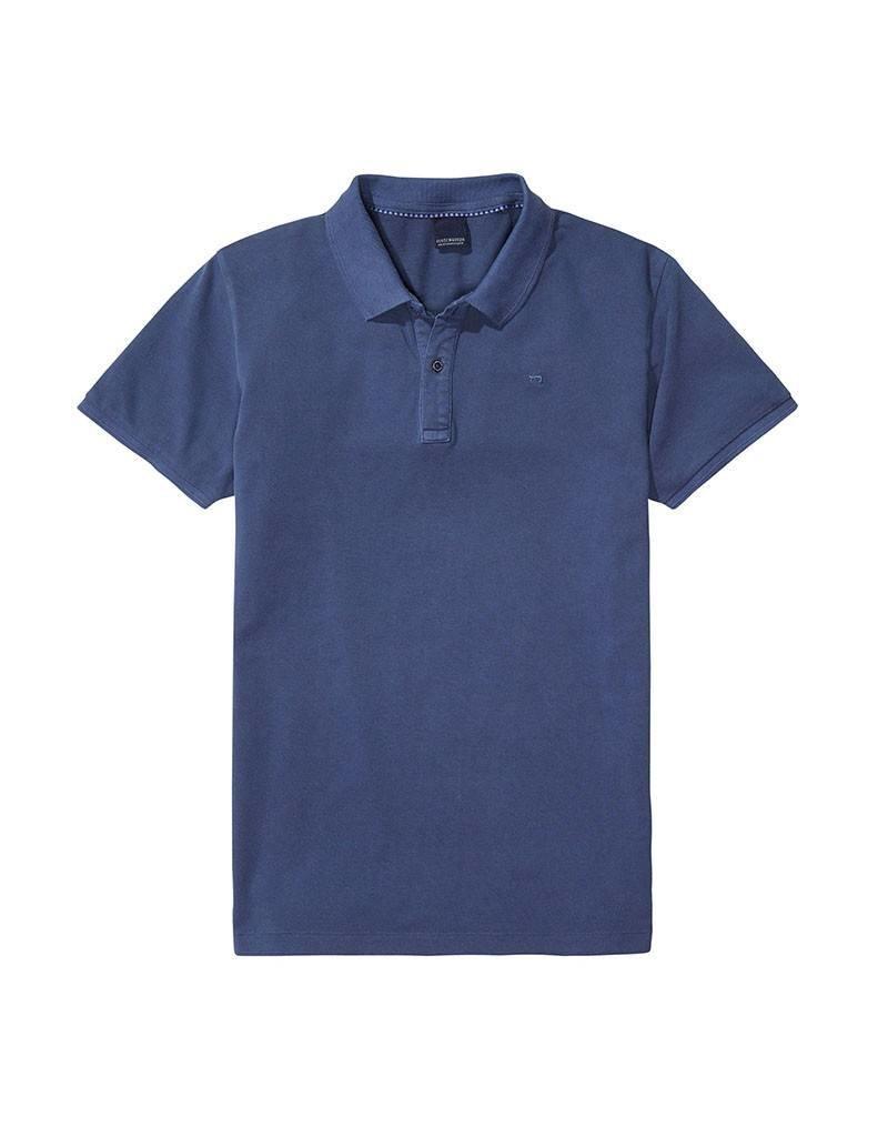 Scotch & Soda Garment Dyed Polo   Blue Ash 134350-0W