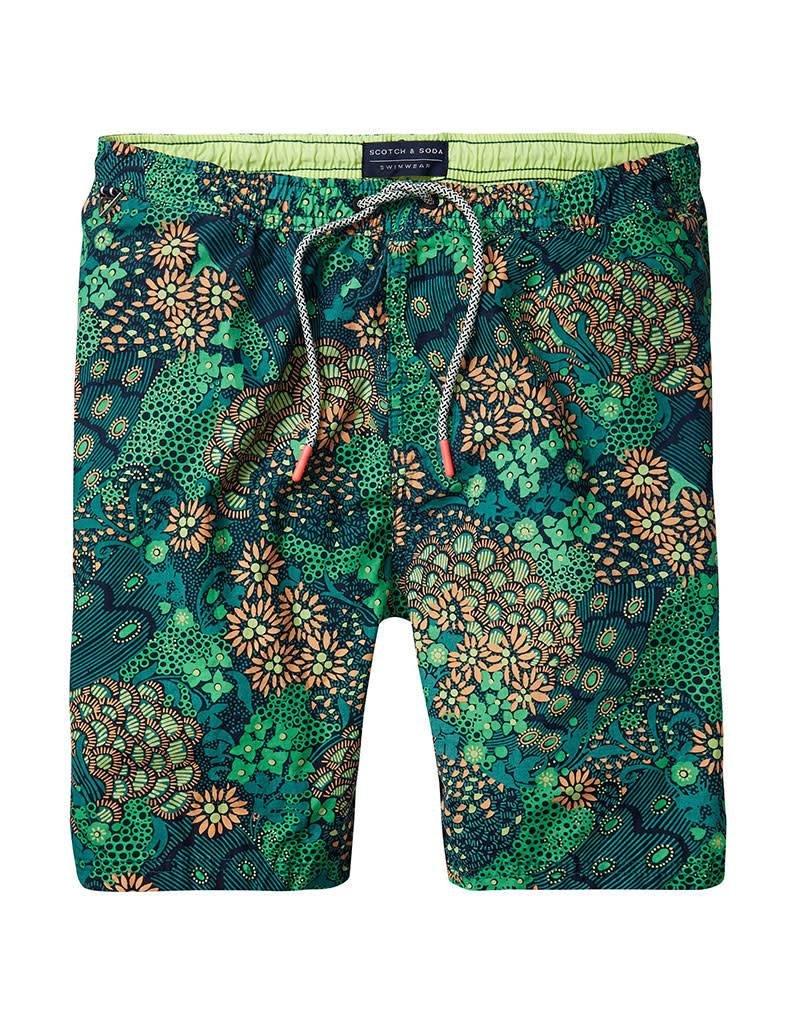 Scotch & Soda Printed Classic Swimshorts  Jungle 136688-0587