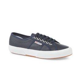Superga 2750 Efglu Leather Sports Shoe | Navy
