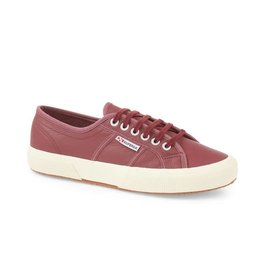 Superga 2750 Efglu Leather Sports Shoe | Oxblood