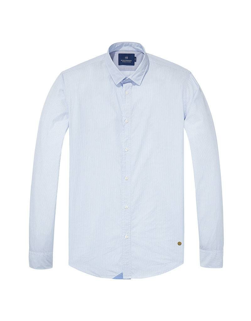 Scotch & Soda Poplin Shirt  | White  / Light Blue 139558-0217