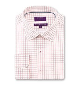 Ganton Check Dress Shirt | Pink