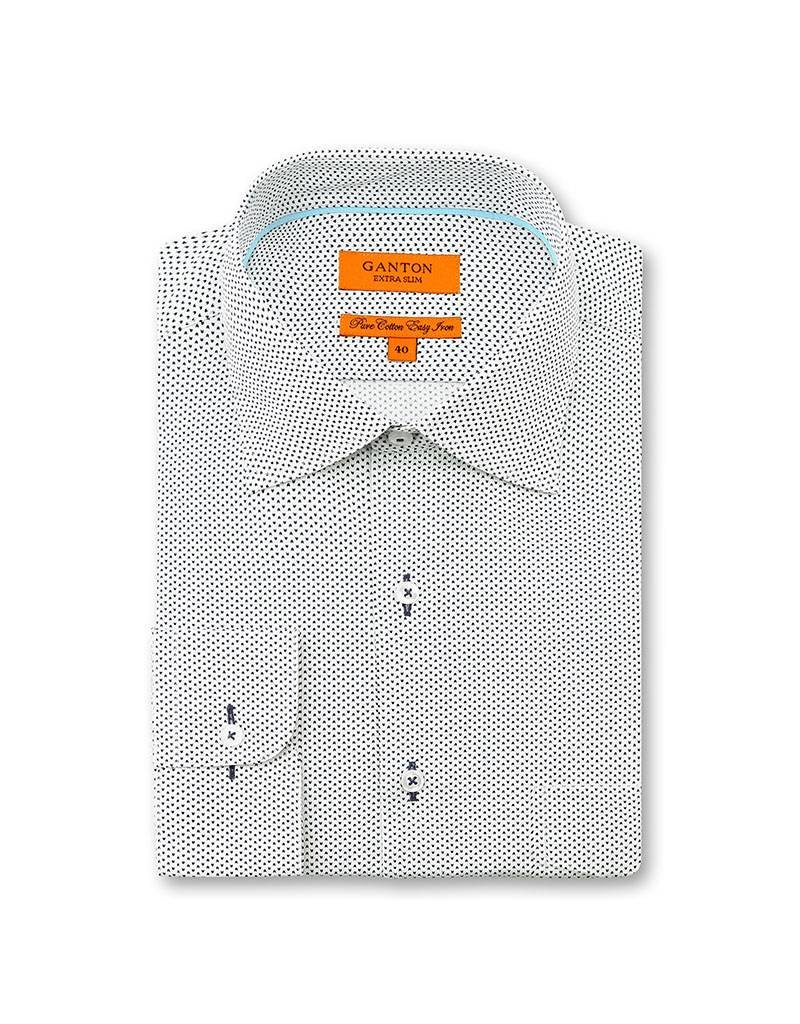 Ganton Spotted Navy Business Shirt - 5045CSSN