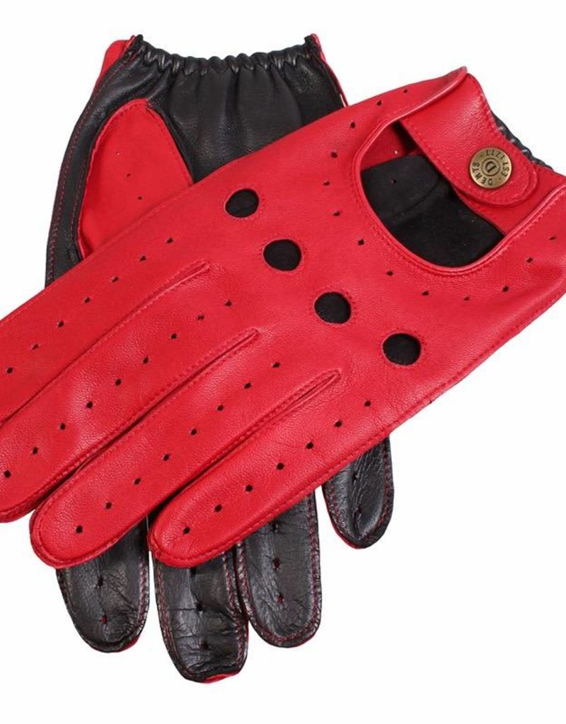 Dents Two-tone Driving Gloves   Berry/Black
