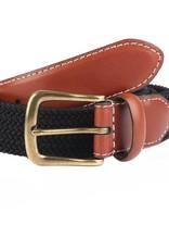 Dents Black Elasticated Belt | 8-4053