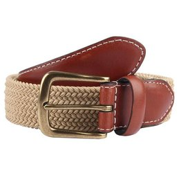 Dents Beige Elasticated Belt | 8-4053