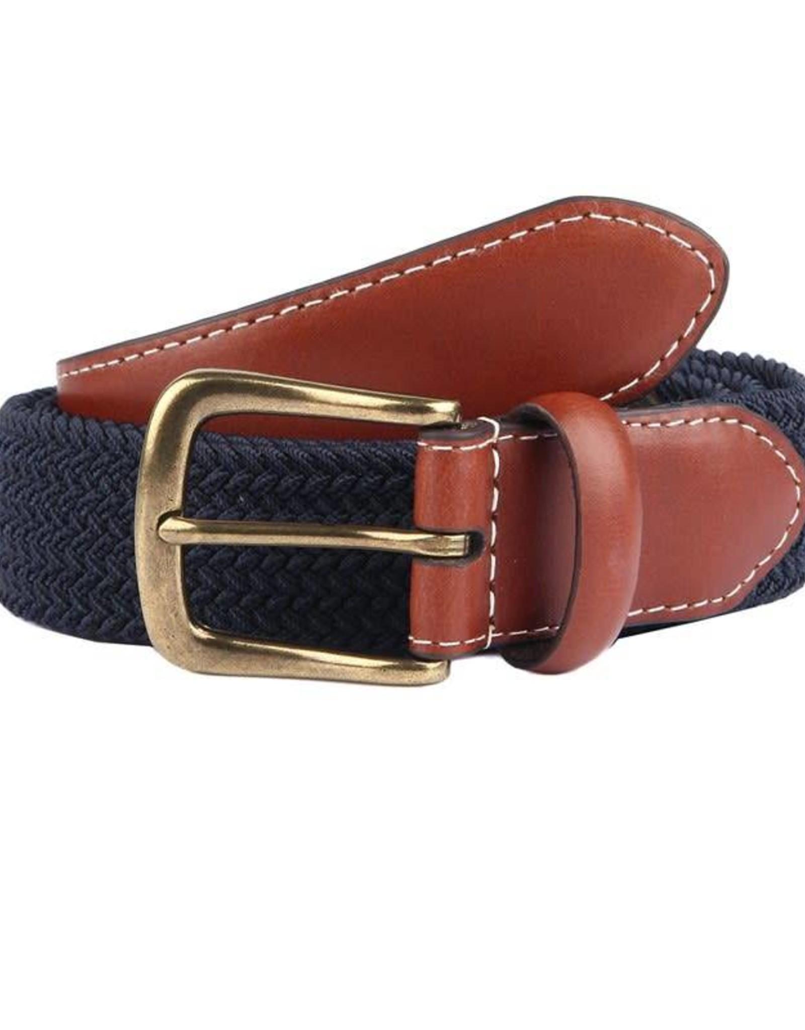 Dents Blue Elasticated Belt | 8-4053