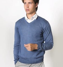 Fratelli Merino Wool Vee Neck - Italian Made | Ocean Road