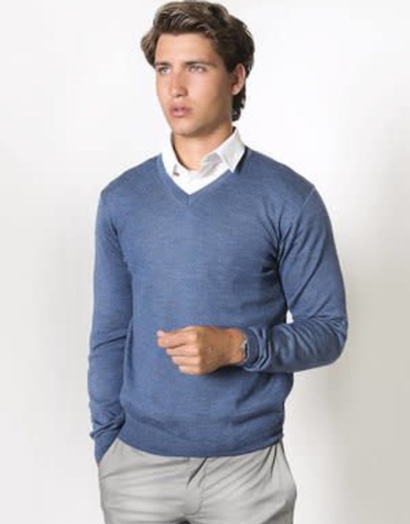 Fratelli Merino Wool Vee Neck - Italian Made | Ocean Road