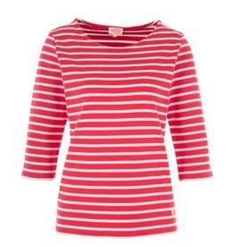 Armor Lux Women's Breton Mariniere Long Sleeve Striped Tee | Red