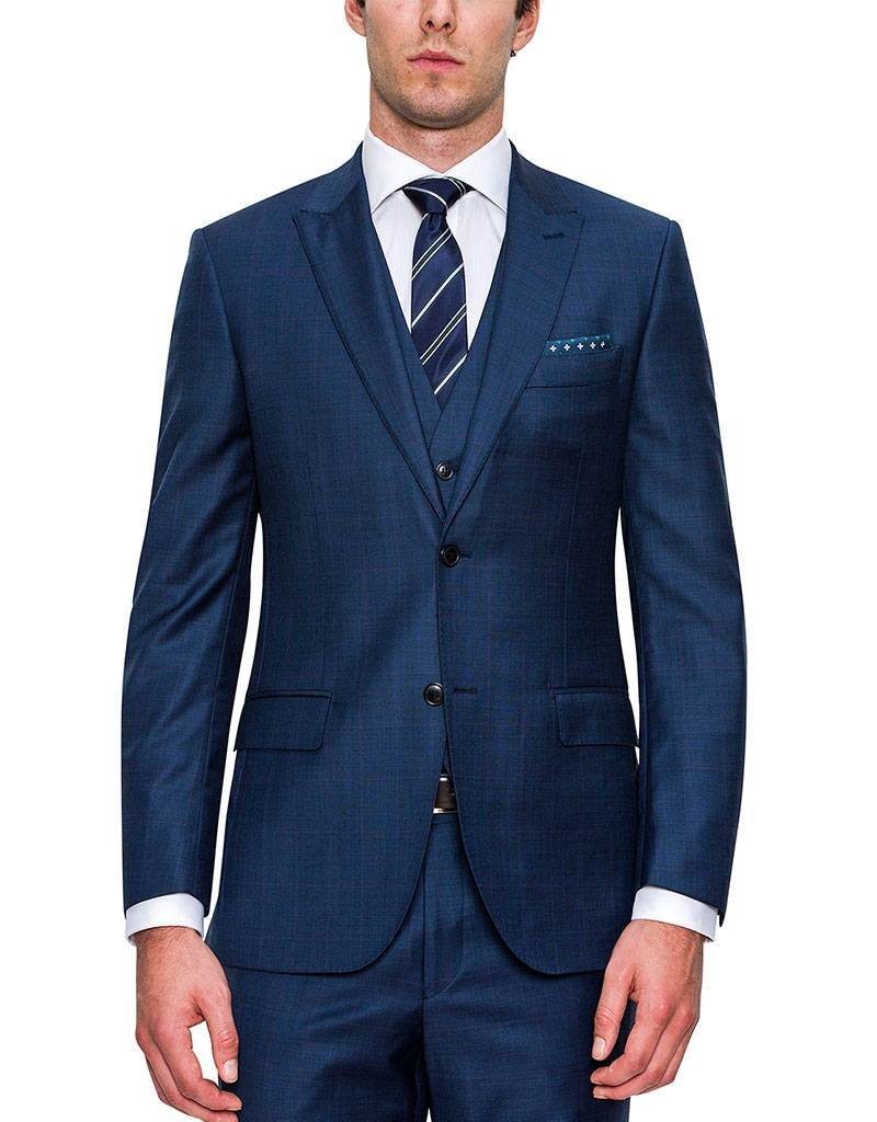 Cambridge Code Suit Jacket | Navy Blue