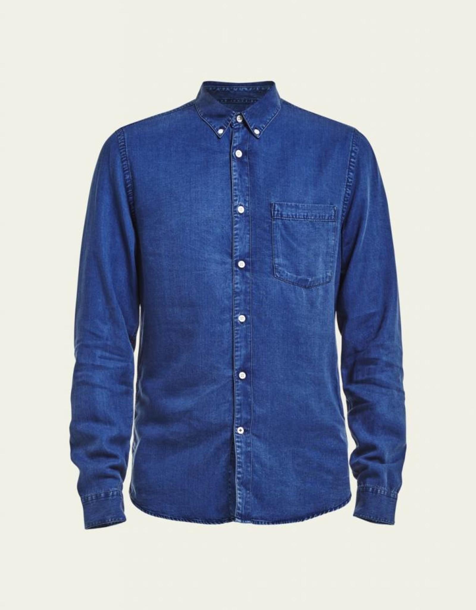 No Nationality Falk Tensel Button Through | Blue Indigo