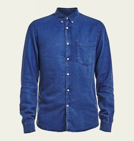 No Nationality Falk Tensel Button Through | Blue Indigo