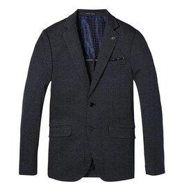 Scotch & Soda Classic Knitted Blazer | Navy / White Diamond